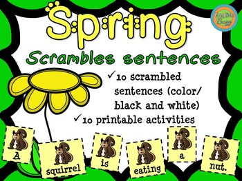 Spring - Scrambled Sentences