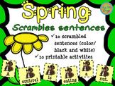 Spring - Scrambled Sentences