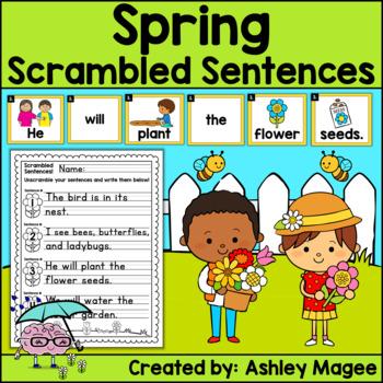Spring Scrambled Sentences Center