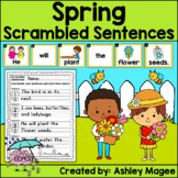 Spring Scrambled Sentences Center