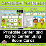 Spring Scrambled Sentences Center - Printable and Digital