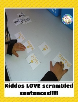 Sight Word Practice, Color & Numbers{2nd-3rd Grades} Scrambled Sentences~Spring~
