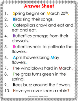 Spring Sight Word Practice Activities and Literacy Centers