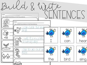 Spring: Scrambled Sentences (Writing Station Activity)