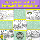 Spring Search & Find Homework for Articulation