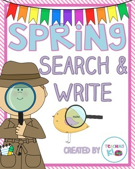 Spring Search & Write Pre-Primer Sight Word Activity for K & 1st Grade