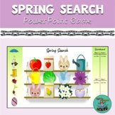 Spring Search: digital game for TELETHERAPY, speech therapy, categories, vocab