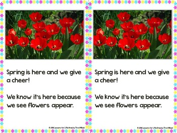 Spring Season Emergent Readers, Word Wall Cards, & Printable Page
