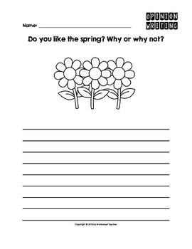 Spring Season Opinion Writing Pack
