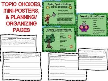 Spring Season Opinion Writing--Persuasive--Piece Pack--Common Core Aligned