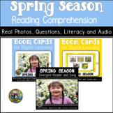 Spring Season Reading Comprehension | Boom Cards and Printable