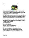 Spring Season - Review Article questions vocabulary word search