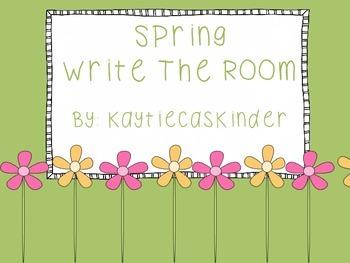 Spring Season Write the Room