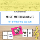 Spring Season of Musical Matching Games