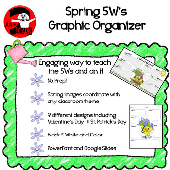 Spring / Seasonal 5W's and an H Graphic Organizer