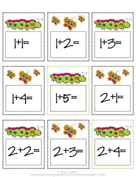 Spring Self-Correcting Addition Match {Differentiated and Common Core Aligned}