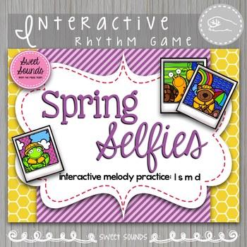 Spring Selfies La-So-Mi-Do {Interactive Melody Game}