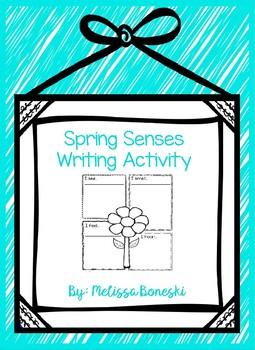 Spring Senses Writing Activity