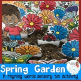 Spring Sensory Bin: An Activity with Rhyming CVC Words
