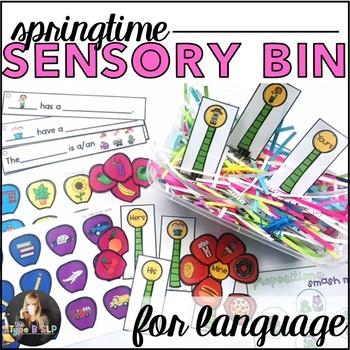 #springdollardeals Sensory Bin for Speech Therapy: Springtime
