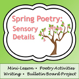 Spring Poetry: Sensory Detail Poems, Activity, & Bulletin Board Project