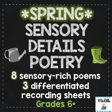 Spring Sensory Details Poetry Stations