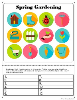 Spring Sensory Motor Activities - Practice Fine, Gross and Visual Motor Skills