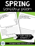 Spring Sensory Poem Pack