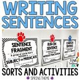 Sentence Writing Activities   Spring Theme