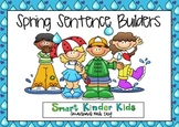 Spring Sentence Builders SMARTboard - CVC, Sight Words, Blending ESL
