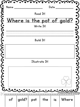 Spring Sentence Builders {morning work, word work, daily 5, & centers}