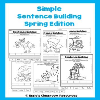 Simple Sentence Building Spring Edition