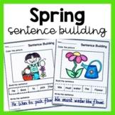 Spring Sentence Building Worksheets