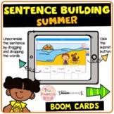 Summer Sentence Building (Boom Cards™)