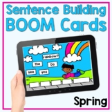 Spring Sentence Building - Boom Cards