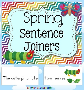 Spring Sentence Joiners Center Activity - 17 pages