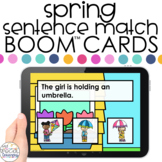 Spring Sentence Match Boom™ Cards - Distance Learning for