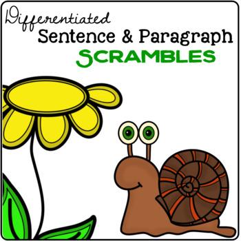 Spring Sentence & Paragraph Scrambles