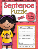 Spring Sentence Puzzle Freebie