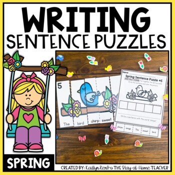 Spring Sentence Building Puzzles