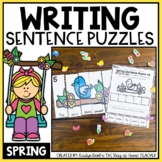 Spring Sentence Building Puzzles and Worksheets