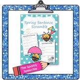 Spring Sentence Scramble/ Builder