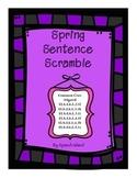Spring Sentence Scramble {No Prep/Low Prep}