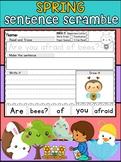 Spring Sentence Scramble Worksheets