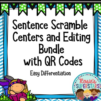 Sentence Scramble and Editing Center With Optional QR Codes
