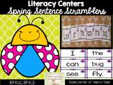 Mixed Up Sentences: Kindergarten Spring