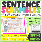 Spring Sentence Scrambles | Sentence Building | Sentence Writing