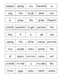 Spring Sentence Unscramble