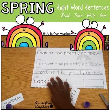 Spring Sentences {Read-Trace-Write-Glue}