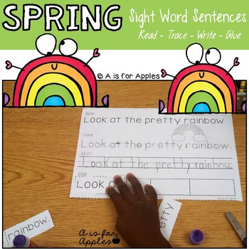 Spring Sentences {Read-Trace-Write-Glue}